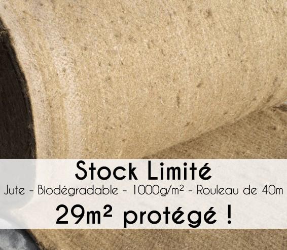 Toile de Paillage Jute 40m - Stock Limité !