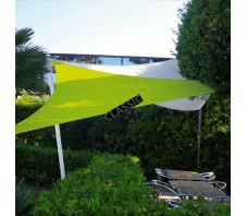Couleur Anis - Voile d'ombrage extensible triangle 5x5x5m
