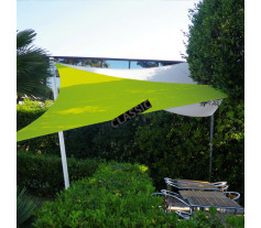Voile d'ombrage extensible & nomade triangle 5x5x5m (T5)