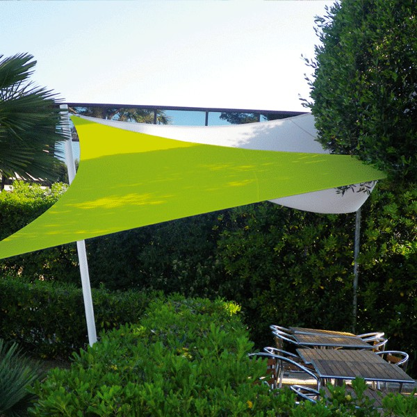 Voile d 39 ombrage extensible 5m direct - Voile d ombrage triangulaire 5m ...