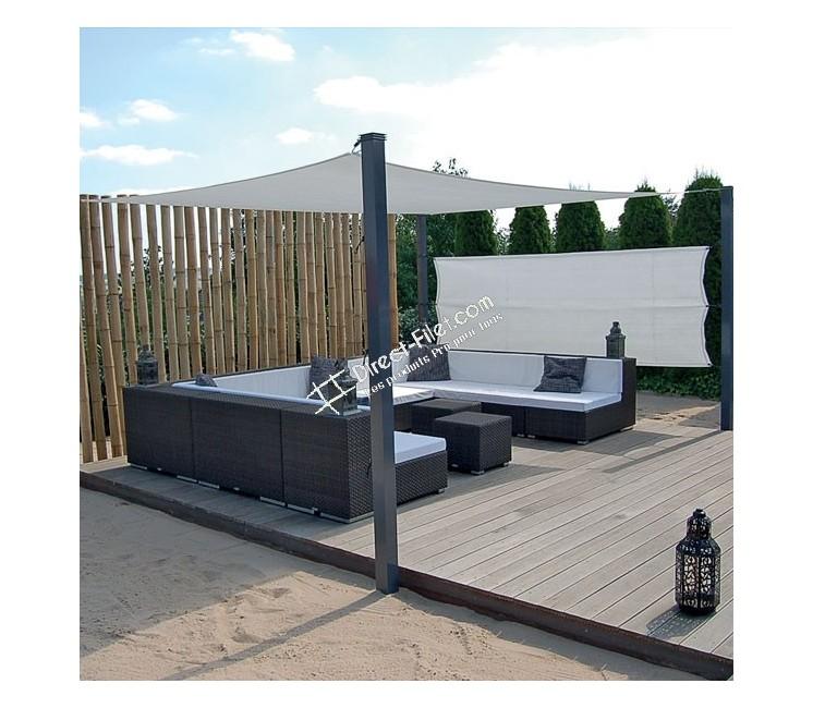 voile d 39 ombrage concave 4x3 perm able direct filet. Black Bedroom Furniture Sets. Home Design Ideas
