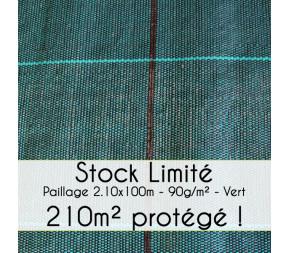 Toile de paillage 210 cm - Stock Limité !