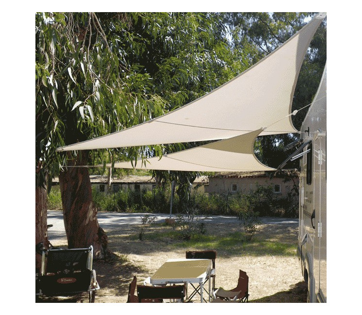 Voile d'ombrage extensible & nomade triangle 3x3x3m (T3)