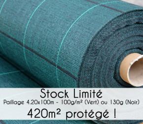 Toile de paillage 420 cm - Stock Limité !