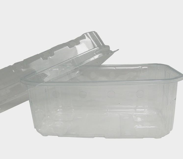 100 barquettes PET 500g avec ou sans couvercle