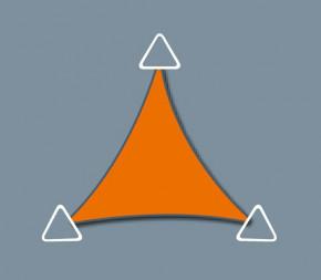 Voile d'ombrage Concave 3.8 x 3.8 X 3.8 - Perméable