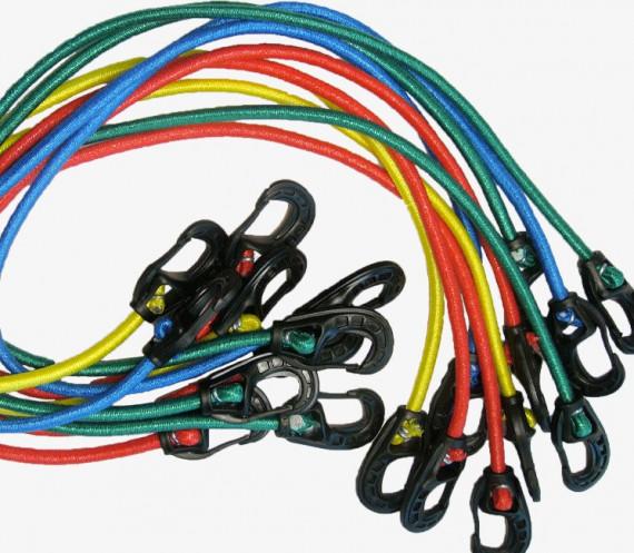Tendeurs 2 mousquetons - Colorés x10