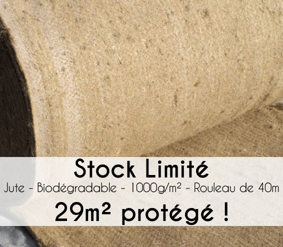 toile de paillage en jute biod gradable rouleau 40m direct filet. Black Bedroom Furniture Sets. Home Design Ideas