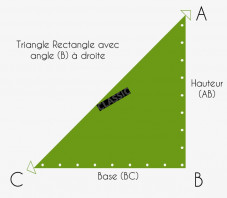 Toile d'ombrage Triangle Rectangle Perméable - Sur Mesure