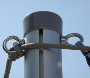 Poteau d'ombrage télescopique