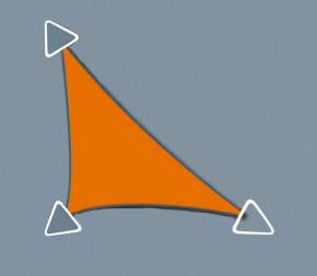 Voile d'ombrage Concave 4 x 4 x 5.6 - Perméable