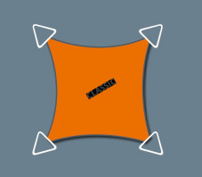 Voile Concave 5 x 4 - Perméable