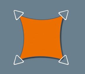 Voile Concave 5 x 4 - Imperméable
