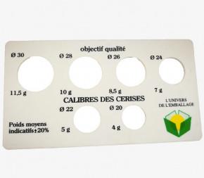 Calibreur plaque à fruits