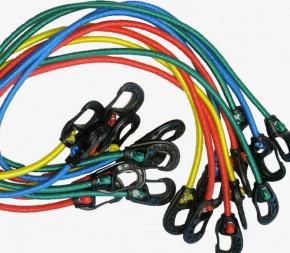 Tendeurs 2 mousquetons - Colorés x10 - 60cm