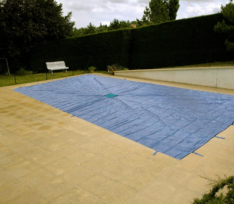 Bâche Piscine rectangulaire avec filet central