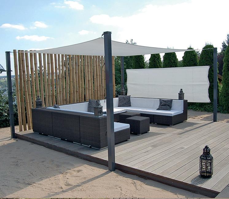 voile d 39 ombrage imperm able concave 6 x 3 m tres pas cher. Black Bedroom Furniture Sets. Home Design Ideas