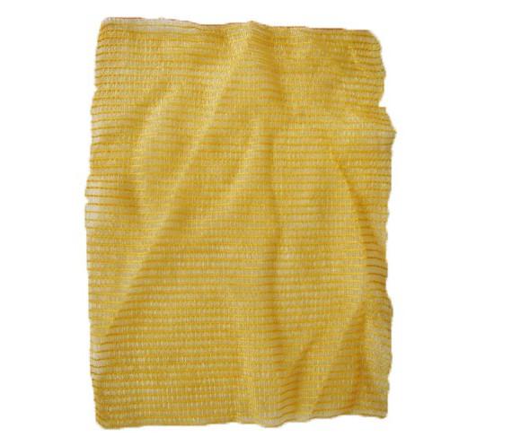 Sacs coupés tricôtés 5 kg sans tirette Jaune (x100)