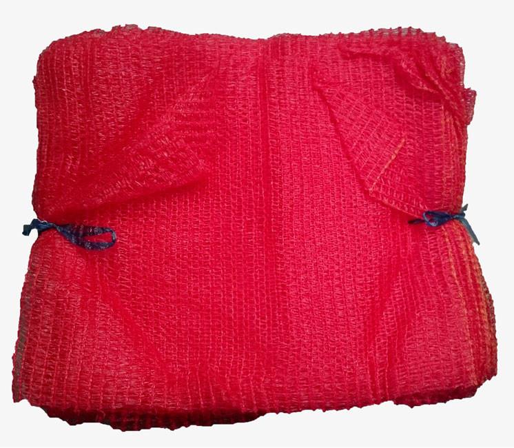 Sacs coupés tricôtés 5 kg sans tirette Rouge (x100)