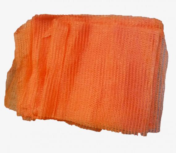 Sacs coupés tricôtés 5 kg sans tirette Orange (x100)