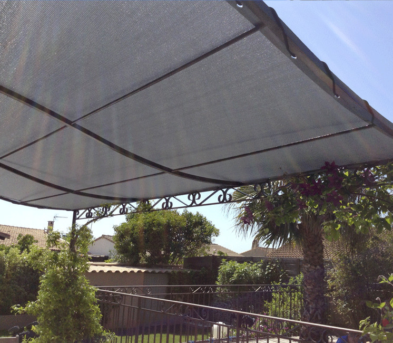 Toile perméable Gris Platine - 5.30x4.05m