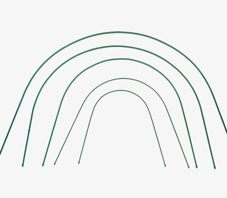 Lot de 10 arceaux rigides plastifiés pour serre tunnel