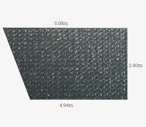 Toile perméable Anthracite - Forme Trapèze