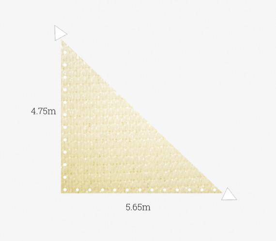 Toile perméable Ivoire - Triangle rectangle 4.75x5.65m