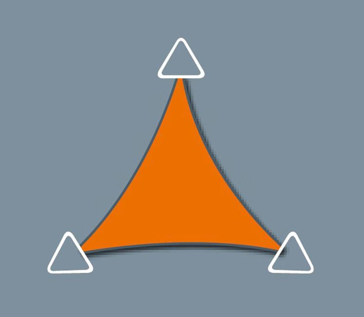 Voile d'ombrage Concave 3.3 x 3.3 x 3.3 - Perméable - Gris Platine