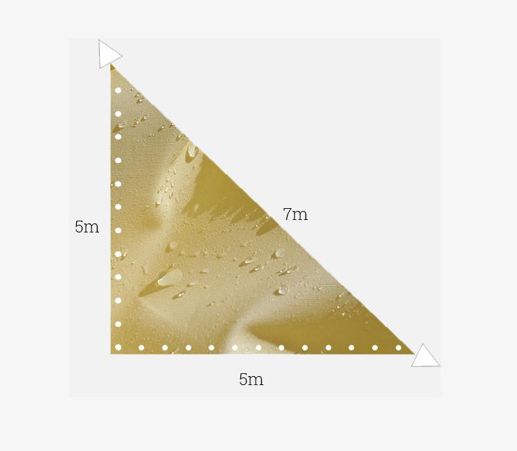 Toile imperméable 5x5x7m ivoire