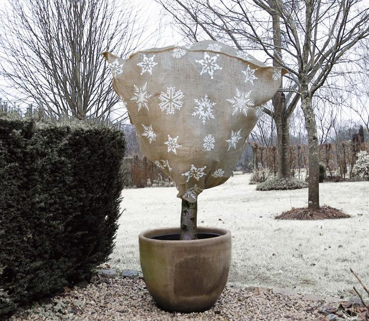 Housse d'hivernage en toile de jute Ø75x100cm