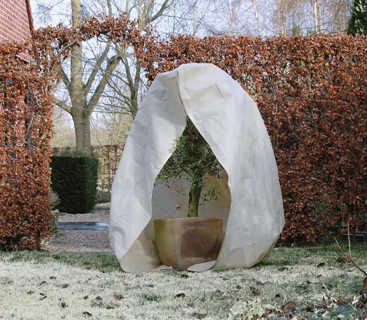 Housse d'hivernage zippée Ø150x200cm 70g/m²