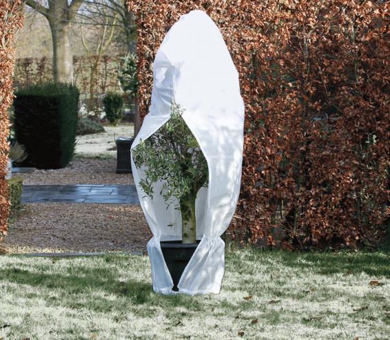 Housse d'hivernage zippée blanche