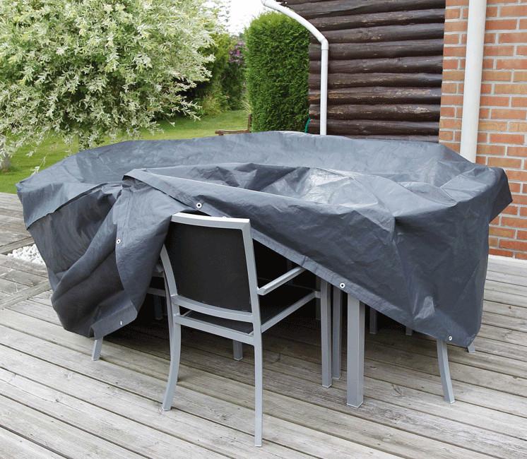 Housse de protection pour table rectangle et chaises de jardin