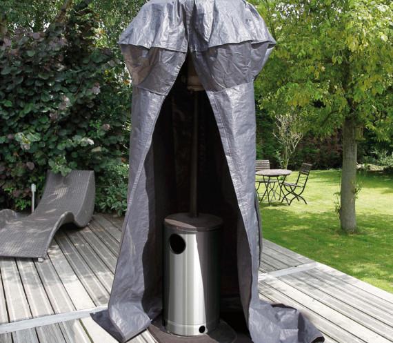 Housse de protection pour chauffage extérieur de terrasse