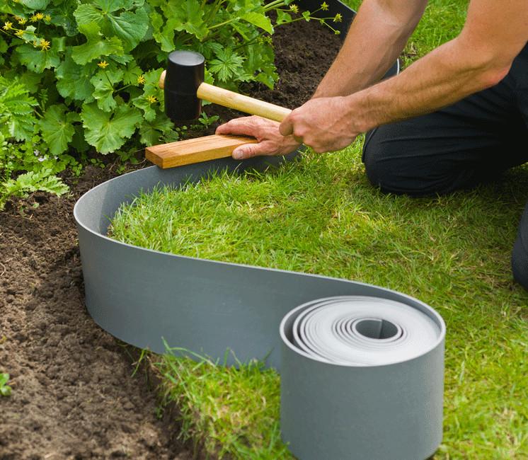 Bordure grise de jardin grise 10m x 15cm
