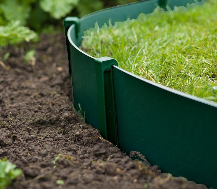 Bordure de jardin verte 10m x 15cm