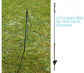 Clôture Anti-Sanglier 50m (Filet + piquets)