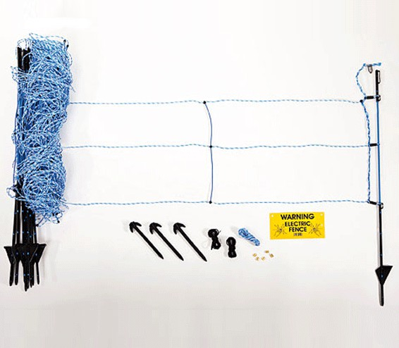 cl ture anti sanglier 50m filet piquets. Black Bedroom Furniture Sets. Home Design Ideas