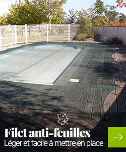 Filet anti feuille piscine