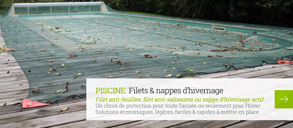 Filet de protection pour la piscine